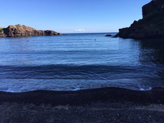 blauwe baai in Sardinie